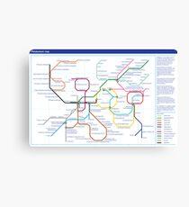 Metabolism - Tube Map Canvas Print