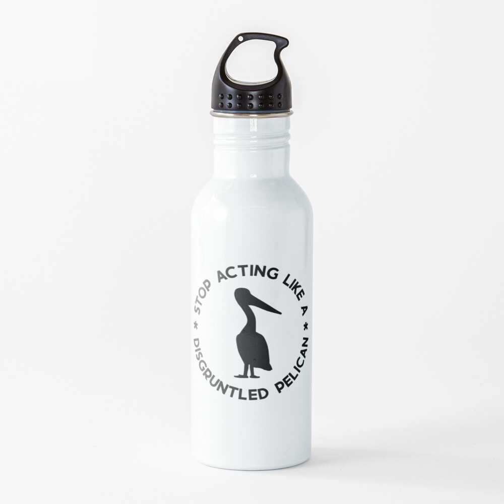 Disgruntled Pelican (Black) Water Bottle