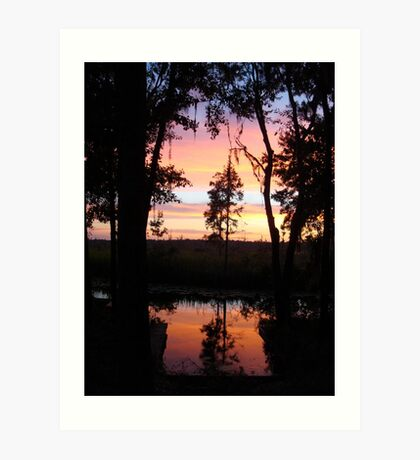 JULY SUNSET ON ECONFINA CREEK Art Print