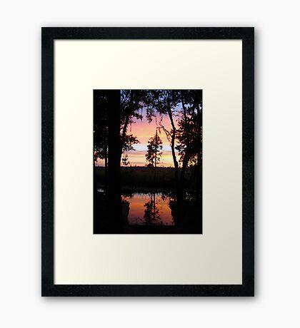JULY SUNSET ON ECONFINA CREEK Framed Print