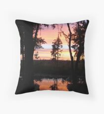 JULY SUNSET ON ECONFINA CREEK Throw Pillow