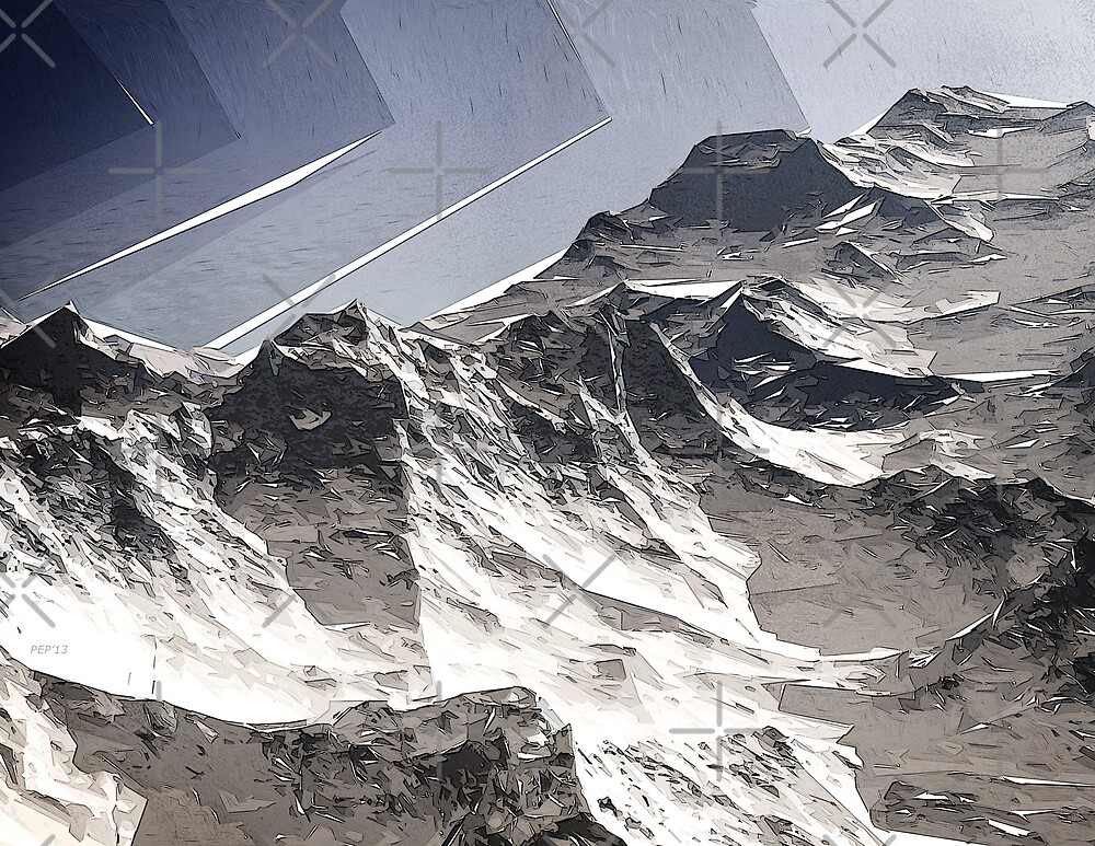 Arctic Mountain Peaks by Phil Perkins