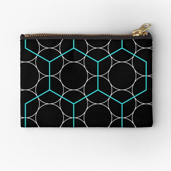 Geometry, Circles, Regular Hexagons Zipper Pouch