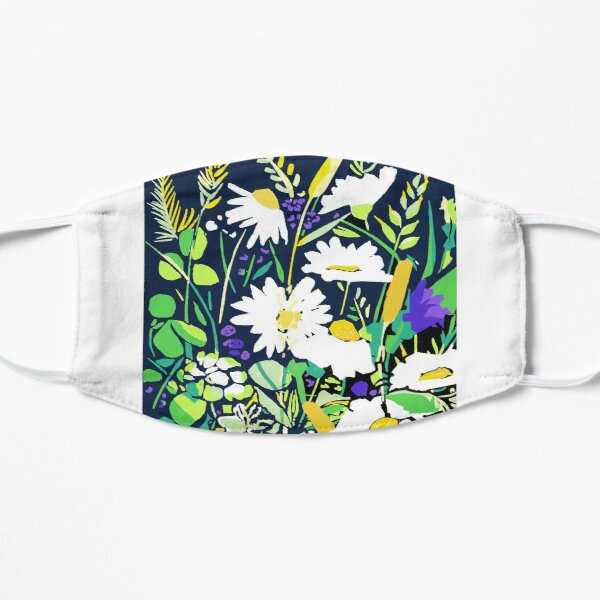 meadow flowers Flat Mask