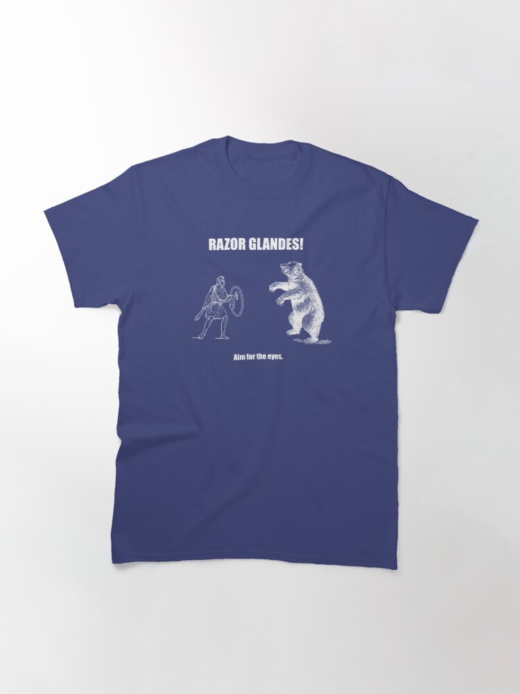 Alternate view of Razor Glandes! Aim for the Eyes. Classic T-Shirt