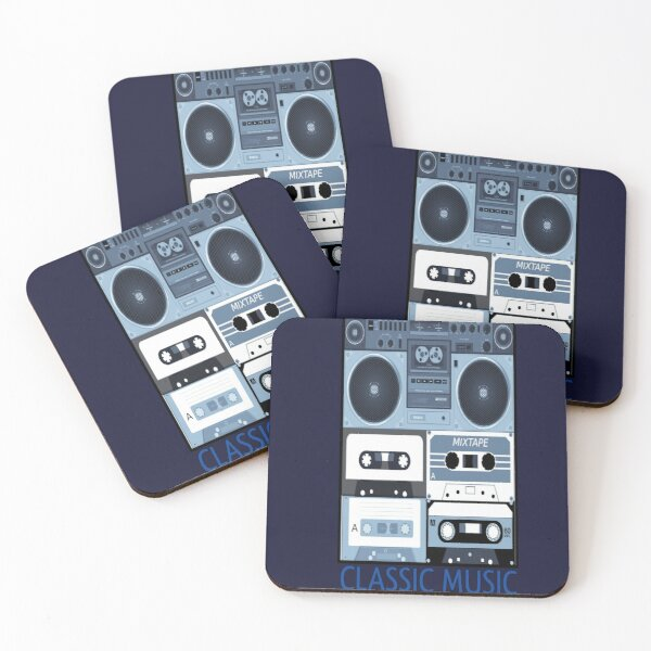 classic music lovers Funny T-Shirt Coasters (Set of 4)