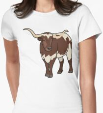 Longhorn Bull Womens Fitted T-Shirt
