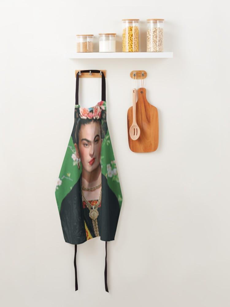 Alternate view of Frida Khalo T-shirt artist Apron