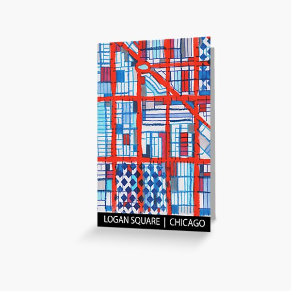 Logan Square, Chicago Greeting Card