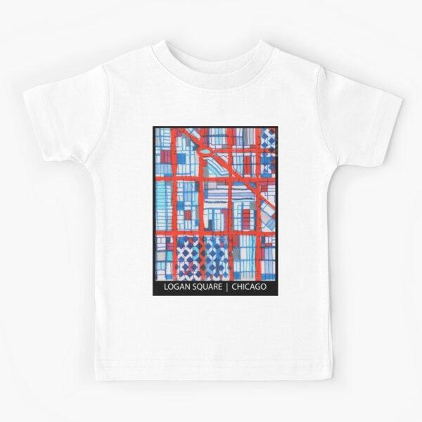 Logan Square, Chicago Kids T-Shirt