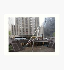 NYC Manhattan Streetscape with Angles Art Print