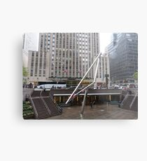 NYC Manhattan Streetscape with Angles Metal Print
