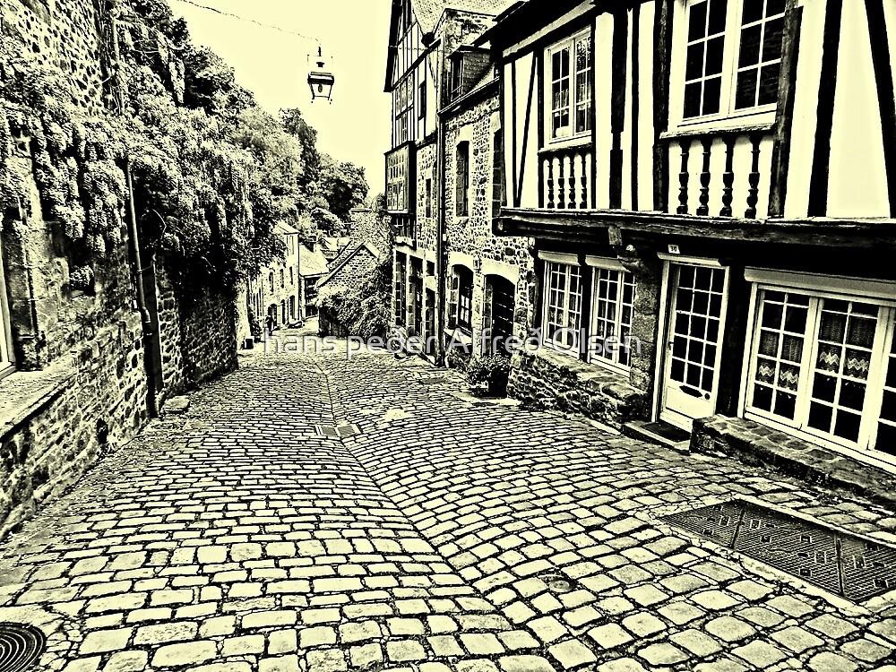 Dinan streetscape by hans p olsen