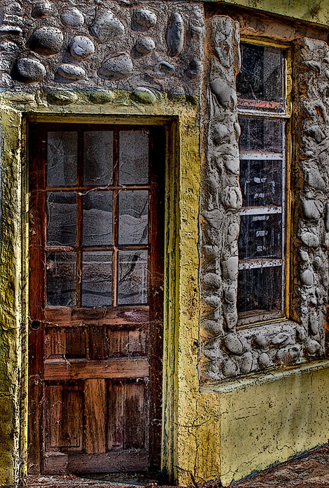 Old Door and Window HDR by Floyd Hopper