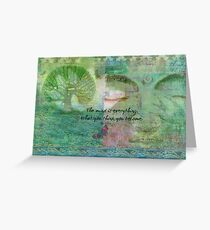 Motivational Buddhist quote art Greeting Card
