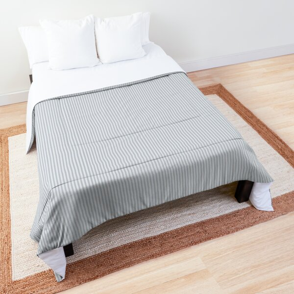 Pale Blue and White Striped Pattern Comforter