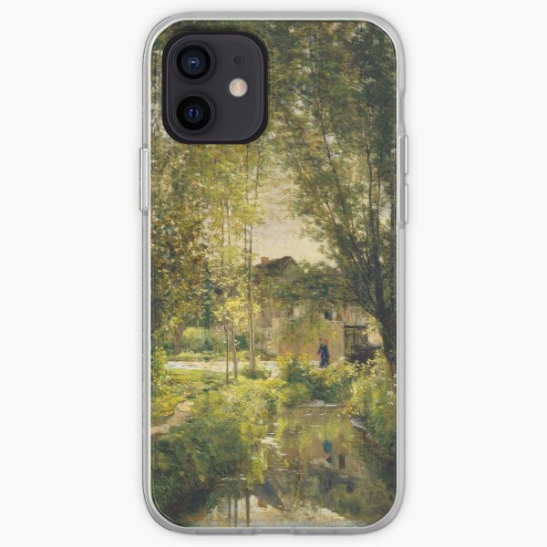 Charles-Francois Daubigny - Landscape With A Sunlit Stream iPhone Soft Case