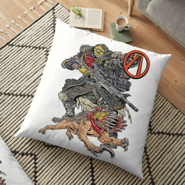 FL4K The Beastmaster With Guard Skag Vault Symbol Borderlands 3 Rakk Attack! Floor Pillow
