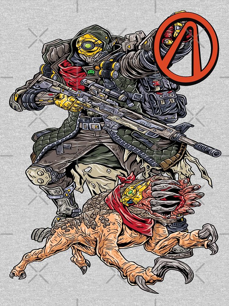 FL4K The Beastmaster With Guard Skag Vault Symbol Borderlands 3 Rakk Attack! by ProjectX23
