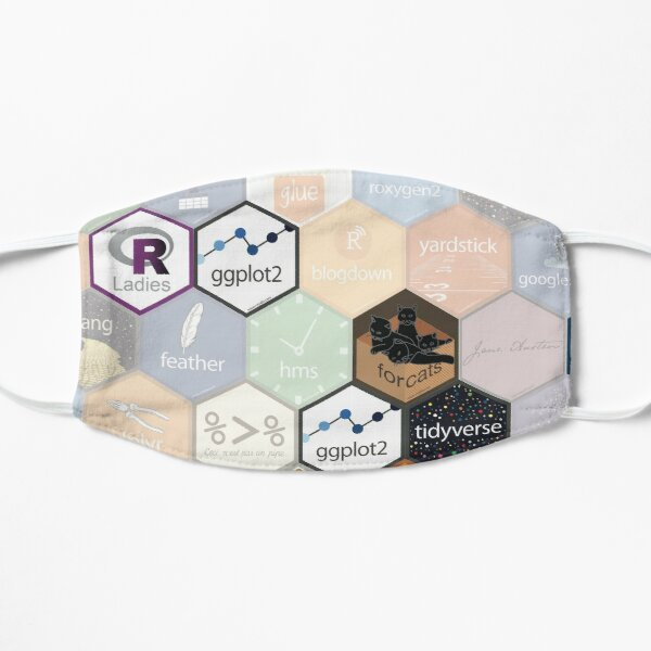 R hex fabric (small hexes) Mask