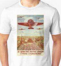 Vintage poster - Russian plane Unisex T-Shirt