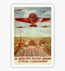 Vintage poster - Russian plane Sticker
