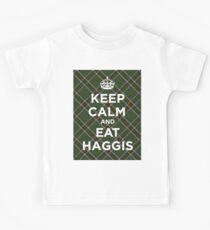 Keep calm, eat haggis Scottish tartan Kids Tee