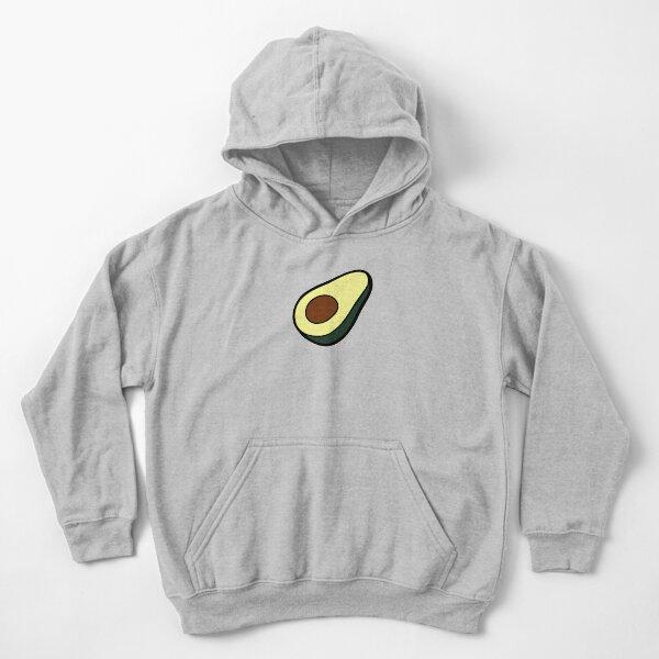 Avocado Pattern Kids Pullover Hoodie