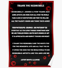 ☀ ツTHANK YOU REDBUBBLE POEM ☀ ツ Poster