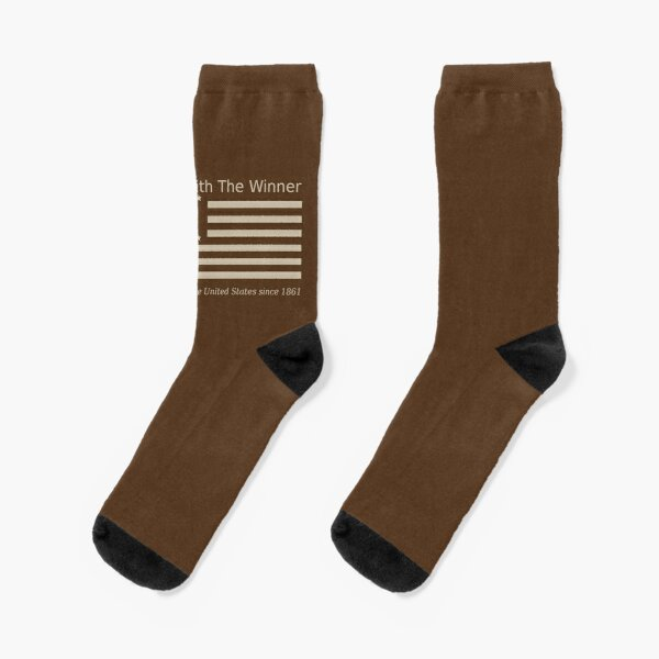 Civil War Flag of the United States - Khaki Socks