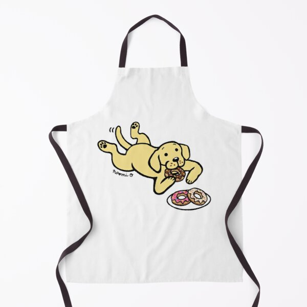 Yellow Labrador and Donuts Apron