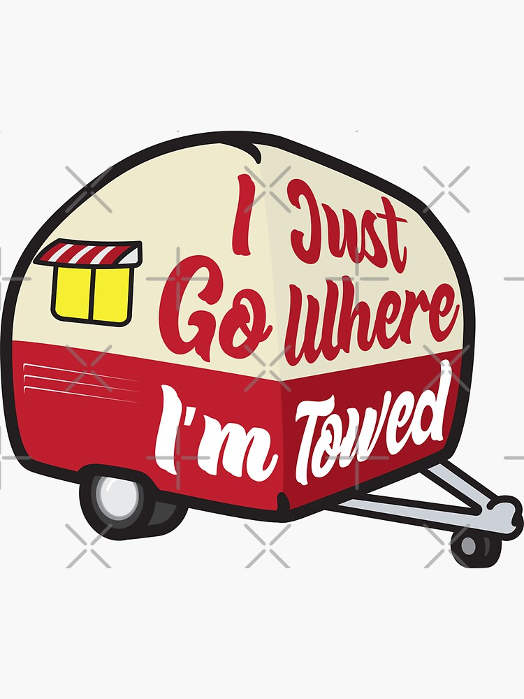 I Just Go Where I'm Towed (Red Variant) by brainthought