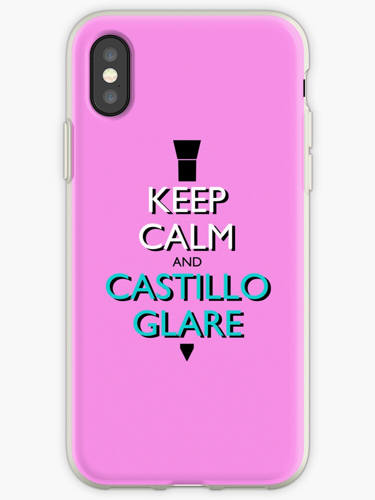 Keep Calm and Castillo Stare (Miami Vice - Pink) by olmosperfect