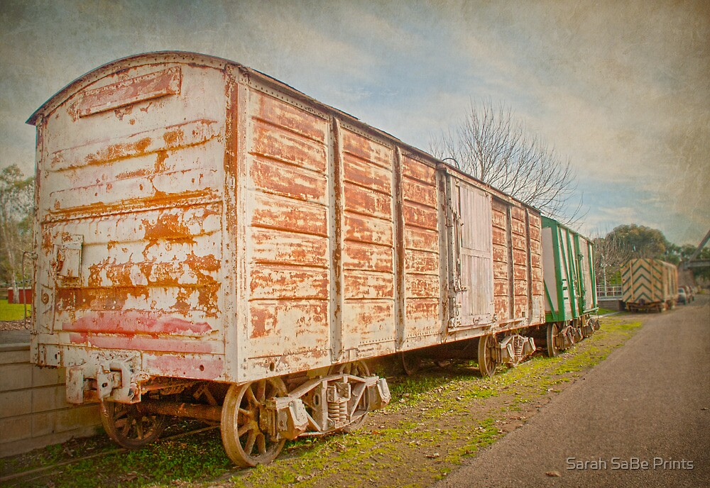 Train carriage old style by Sarah SaBe Prints