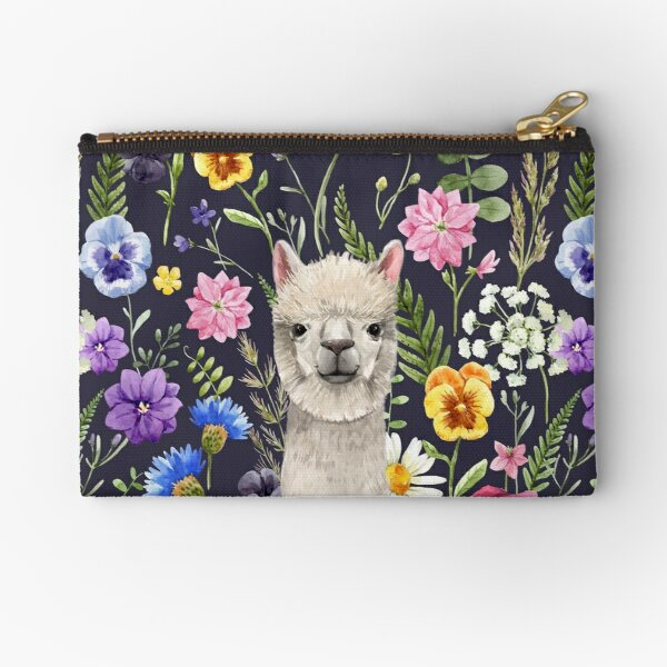 Wildflower Alpaca Zipper Pouch