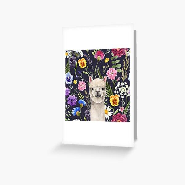 Wildflower Alpaca Greeting Card