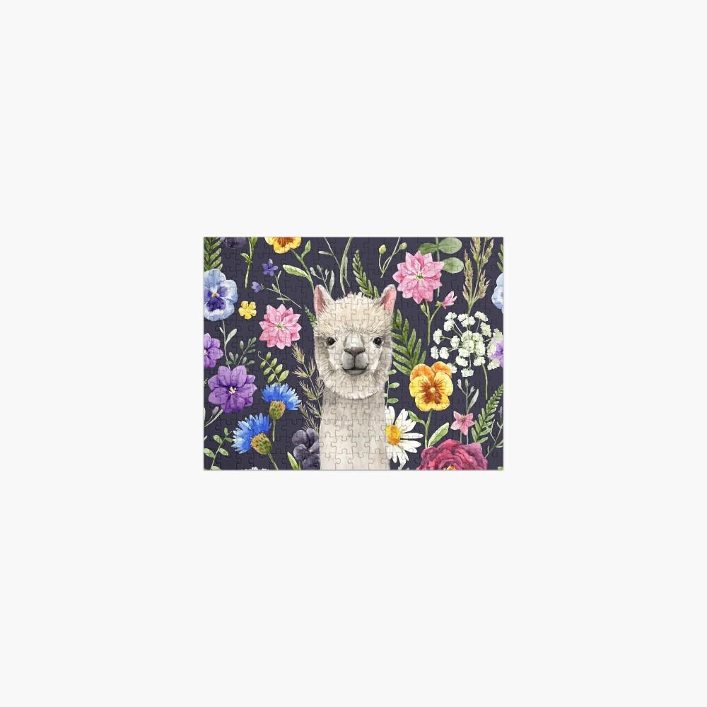 Wildflower Alpaca Jigsaw Puzzle