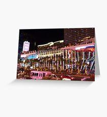 Vegas Strip Nightlife Greeting Card