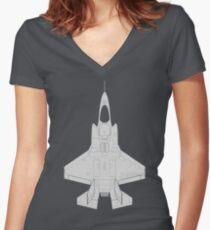 Lockheed F-35B Lightning II (Light) Women's Fitted V-Neck T-Shirt