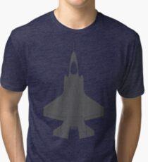 Lockheed F-35B Lightning II (Dark) Tri-blend T-Shirt