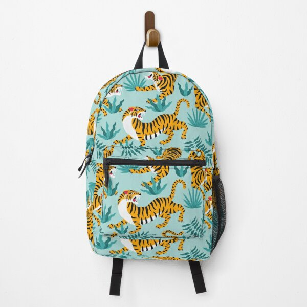 Tigers and tropical leaves Backpack