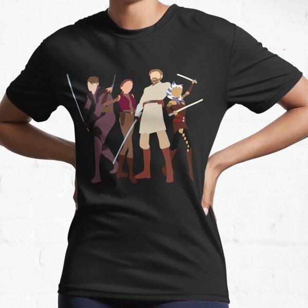 Anakin, Padmé, Obi wan and Ahsoka clone wars Active T-Shirt