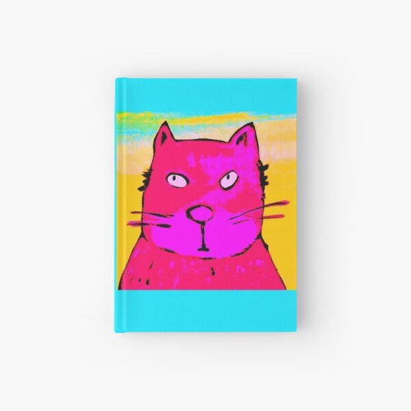 BIG PINK CAT Hardcover Journal