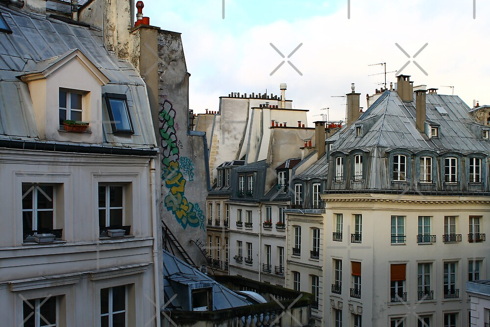 Paris Rooftops by Grimm Land