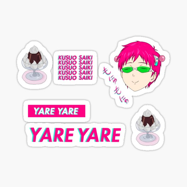 Saiki K sticker set Sticker
