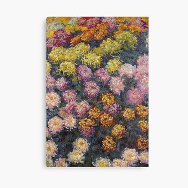 Claude Monet - Bed Of Chrysanthemums Canvas Print
