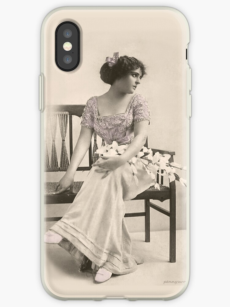 Vintage Spring Fashion iPhone case by pennyswork
