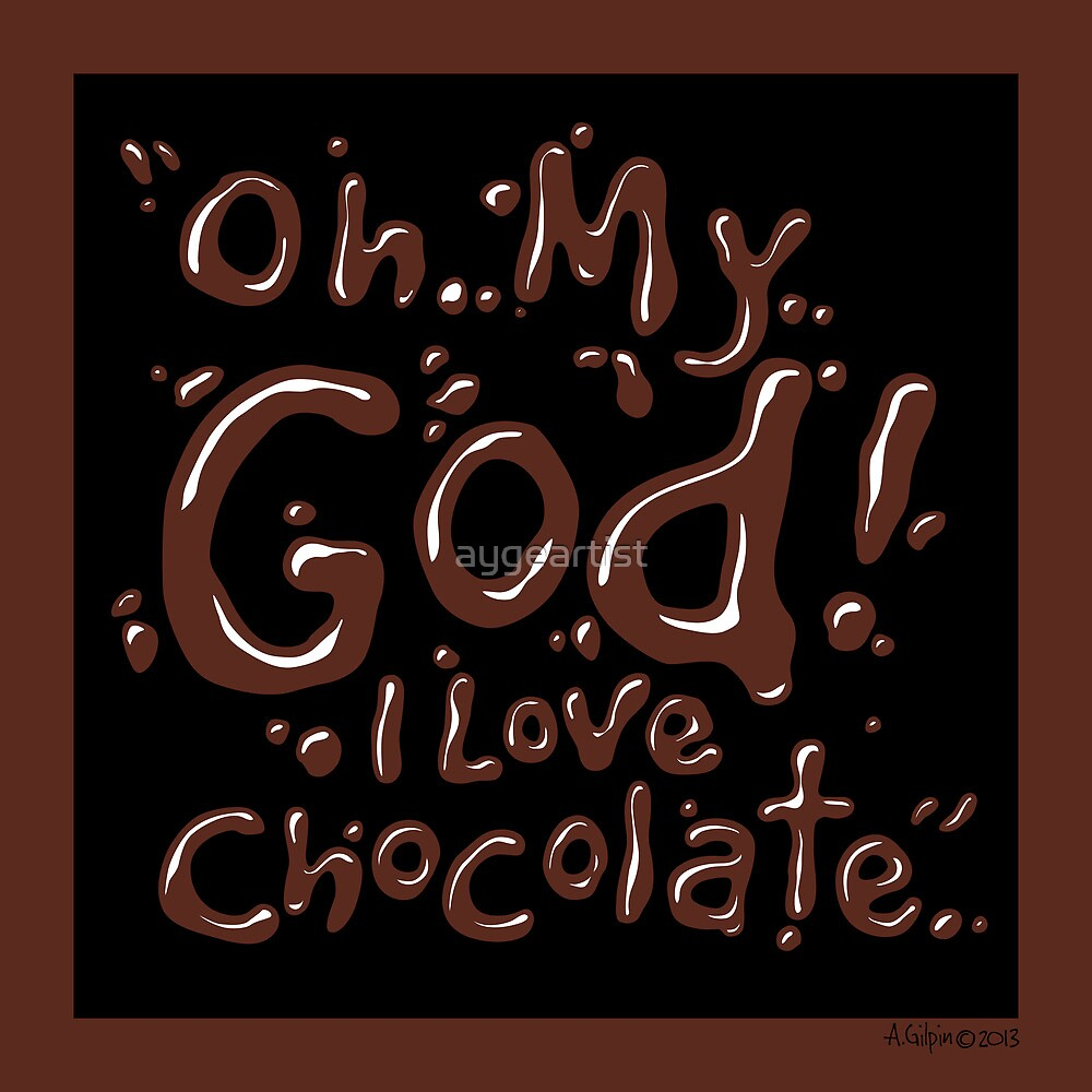 Chocolate exclamation Chocolate-Black 1 by aygeartist
