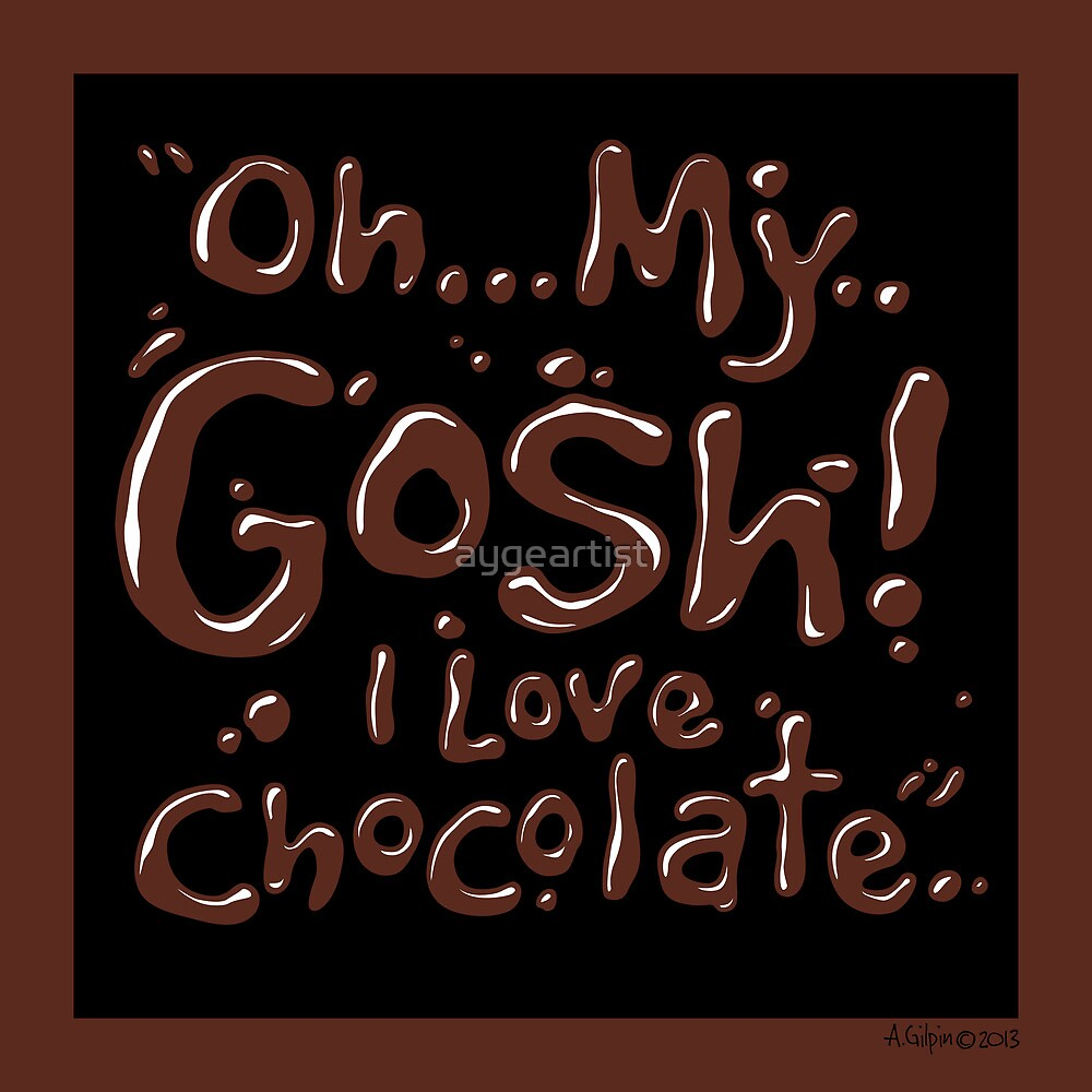Chocolate exclamation Chocolate-Black 2 by aygeartist