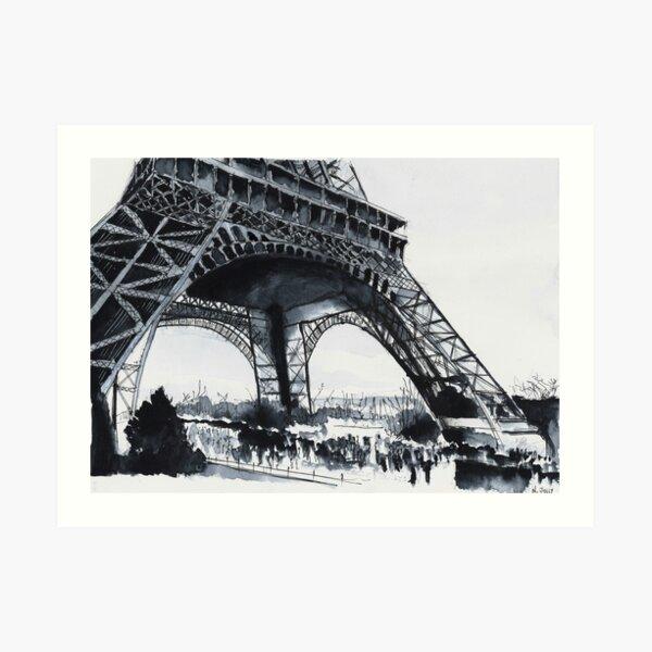 Tour Eiffel - Watercolor Art Print
